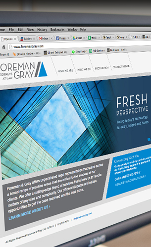 foreman and gray, lawyer website design