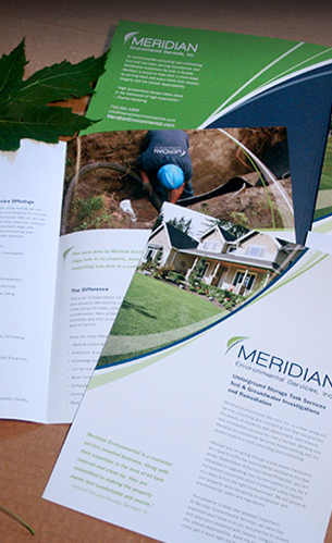 meridian folder stationery branding identity design