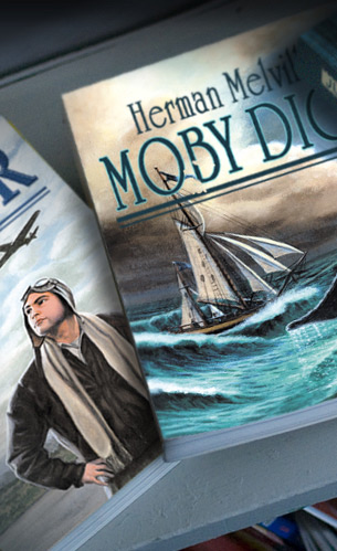 Moby Dick book cover illustration and design