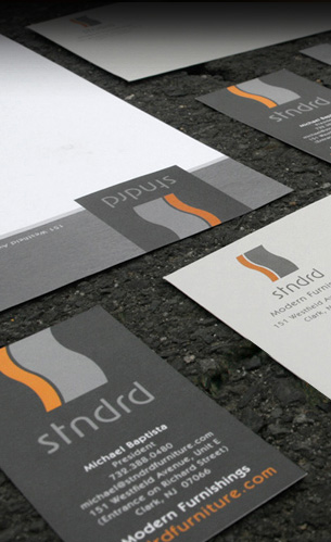 stndrd branding, business cards, stationery and logo