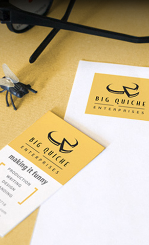 funny branding stationery and logo design