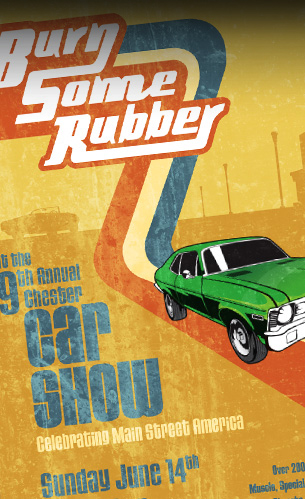 poster design for chester nj car show event